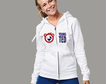 Women's Zipped Hoodie Teddy Bear Top