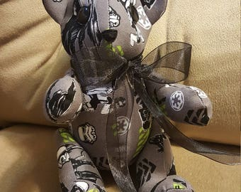 "Star Wars ""The Dark Side"" Homemade Teddy Bear!"