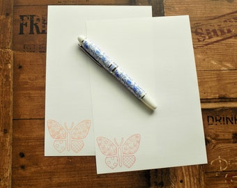 Patterned Butterfly Letter/Writing/Stationary Set