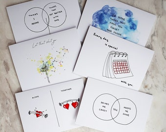 Greeting Cards - 6 Designs