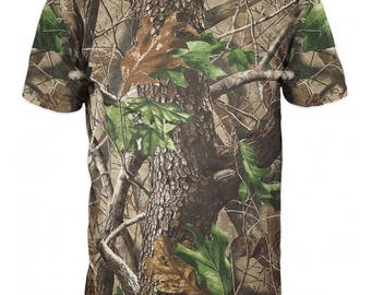 T-shirt 3d short sleeve hunter-Realtree camo-Fishing