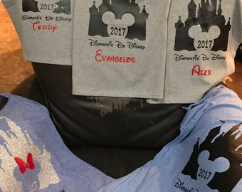Make your own Magical Vacation Shirts, Iron on Vinyl, iron on Decals, Iron on Vinyl, Family Shirt decals, Group Shirt decals, Castle
