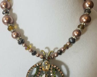 Statement Necklace, Handmade Necklace, Beaded Necklace