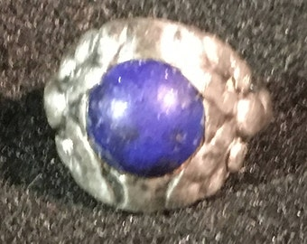 Georg Jensen Sterling Silver and Lapis Ring , size 5.