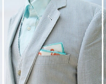 Pocket Square in Flamingo Flock