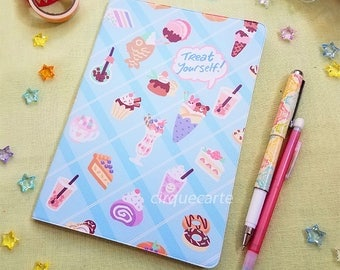 Dessert Refillable Canvas Blank Sketchbook