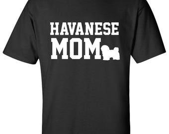 Havanese Dog mom 100% Cotton Graphic Logo Tshirt