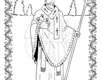 St Nicholas Letter Printable Coloring 2 Page
