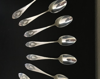 Silver spoons - set of 8 from early 20th Century