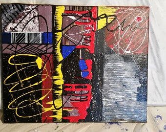 Abstract Art in Acrylic paint #4