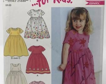 New Look Girls Dress Pattern 6171, Toddler Dress Pattern, Uncut Sewing Pattern, Easy
