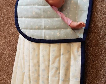 Quilted Dolls Sleeping Bag