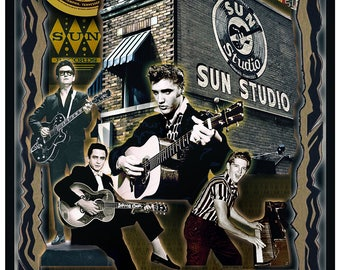 Sun Records with: Elvis Presley, Roy Orbison, Johnny Cash, and Jerry Lee Lewis