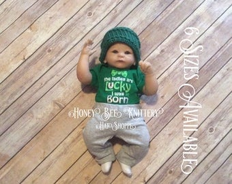 Basket Weave Hat - 6 Sizes Available; green, St. Patrick's Day   ***READY TO SHIP***