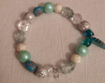 Acrylic Bead Stretch Bracelet