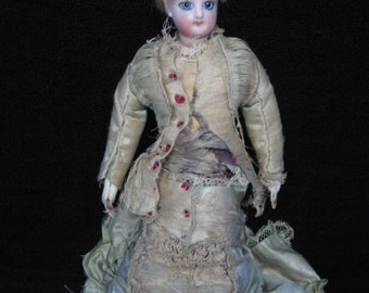 "F.G. GAULTIER ANTIQUE 12"" Original  Fashion Lady Poupee Peau French Doll ca. 1860 with Original Clothes"