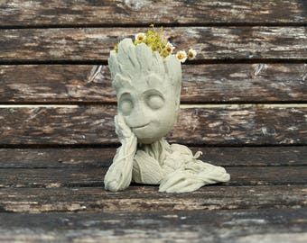 Baby Groot Planter - Unfinished Version - Guardians of the Galaxy Vol. 2 - US SELLER