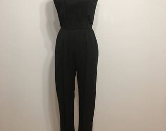 1970s-1980s Black Jumpsuit