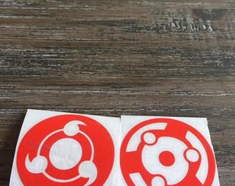 Sharingan vinyl stickers
