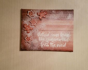 Gingerbread Cookies 16x20 Canvas