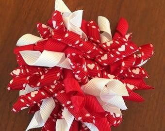 Red Valentine Corker Bow