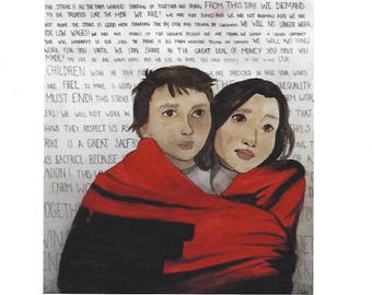 Viva La Huelga! Cesar Chavez Print