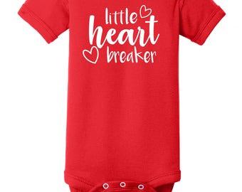 Little Heart Breaker - Valentines Day - Newborn to 24 Mos. Onesie