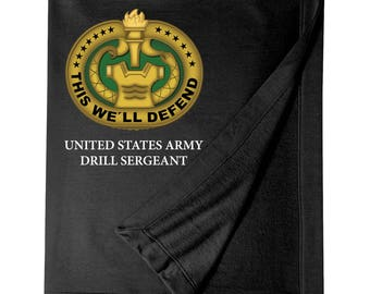US Army Drill Sergeant Embroidered Blanket-7264