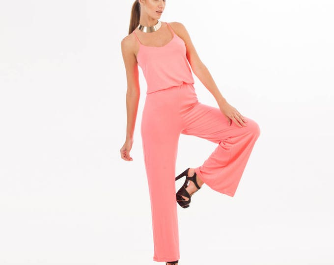 Pink Jumpsuit - Pink Clothing - Pink Overall - Jumpsuit - Overalls - Women Jumpsuit - One Piece - Pink