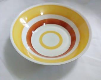 Vintage Korean striped bowl.