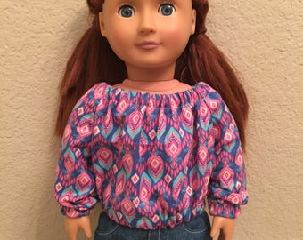 "18"" Doll Clothes Long Sleeve Shirt"