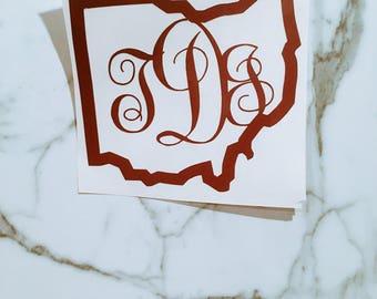 CUSTOM Ohio Monogram Decal
