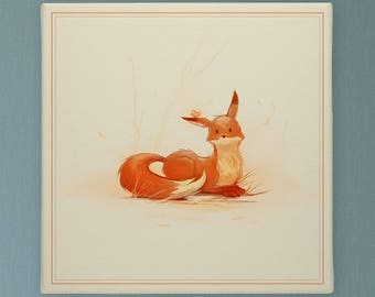 Resting Little Fox, Curious Little Fox, Nursery Decor. Nursery Prints, Nursery Art Be Brave Be Kind Be Clever Be Wise Be Curious Be Silly