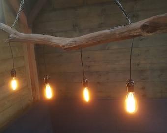 Ceiling lamp of old oak Wood Branch