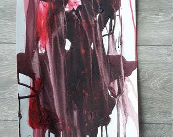 Two colour action painting
