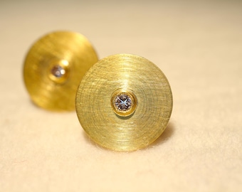 Earrings in 900ER gold with Diamonds