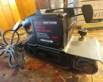 Belt sander etsy terminator stye sears craftsman 3x21 in one horsepower belt sander sciox Image collections
