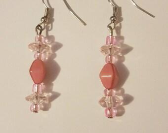 Mauve/pink Earrings