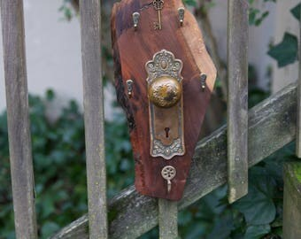 SOLD!!! Hand made wall hanging key and leash holder