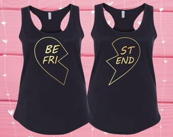 Matching Shirts, Custom Bachelorette, Group Tank Tops, Birthday Shirts, Brunette Best Friend, Funny Tank, Best Friend Gift, Clothing V28