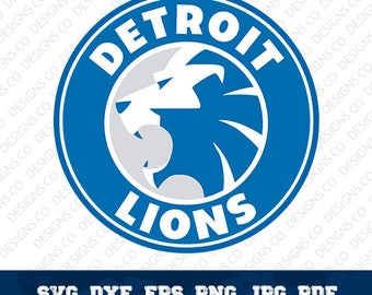 Detroit Lions,NFL,Football Team,Logo Silhouette,Detroit Lions logo,Vector File,Cricut Design,svg-dxf-png,digital file,OUT-13