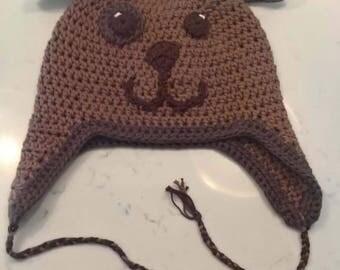 Kids Puppy Flap Ear Hat