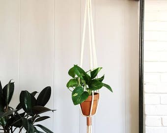Copper and Cotton Plant Hanger