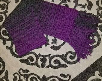 Ombre Crochet scarf