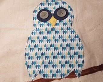 Owl applique bag