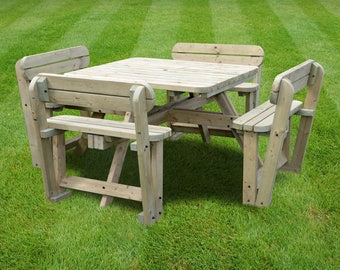 Braunston Picnic Table - Rounded Edges