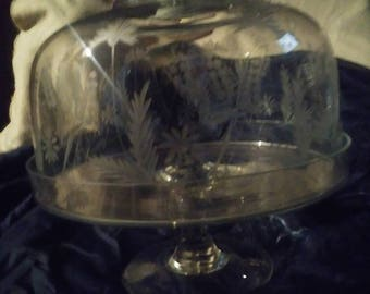 Vintage Princess House Cake Plate with Stand