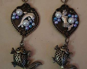 Bespoke Handmade Nautical Earrings