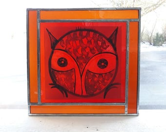 Stained Glass - owl #one