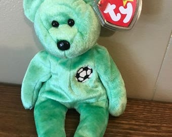 "Rare ""Kicks"" Ty Beanie Baby with Errors"